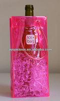 Factory direct sale plastic ice bag for wine pvc wine bag