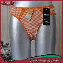 7491 New Design Flower printed Sexy junior girls sex 90 panties