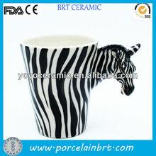 customised 3d animal design ceramic mugs for giftware