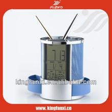 Novelty penholder alarm clock digits