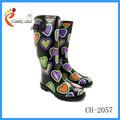 Baratos de la señora mujeres botas de lluvia de goma