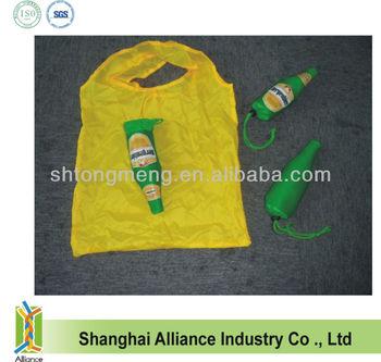 Foldable Shopper Bag in Beer Bottle Shape