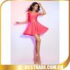 2014 pink halter A line short cocktail chiffon dresses bandage