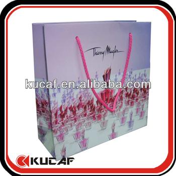 Custom Paper Tote Bag With Rope Handle
