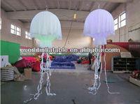 hanging jellyfish lighten led inflatable advertising balloon