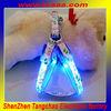 Led optical fiber nylon flashlight dog harness