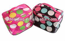 New Fashion Black Dot Makeup cosmetic Bag cases, Zipper Bag, Makeup Tools