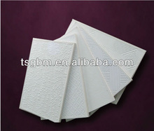 EMBOSS/PVC LAMINATED GYPSUM CEILING TILE 600*600*8/9/10mm 600*600 aluminum foil back Perforated Hardness 8.0mm MID-east