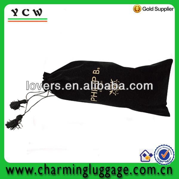 black velvet gift bag/velvet bags wholesale