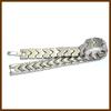 Metal Fashion Pave Link Bracelet