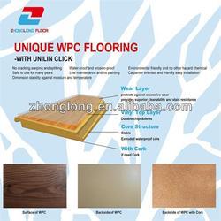100% Waterproof Wood Plastic Composites Floor