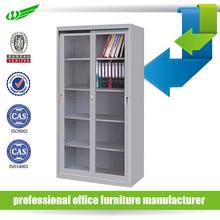 2 sliding door book file display steel glass office furniture