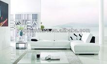 2014 hot sale modern minimalist living room furniture corner combination of Italian pu modern sofa A317-1
