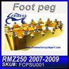 For SUZUKI RMZ 250 2007-2009 T6061 Aluminum CNC Machined Motorcycle Footpegs FCPSU001