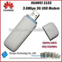 Hot selling Original Unlock HSDPA 3.6Mbps HUAWEI E153 3G USB Adsl Modem And 3G Dongle