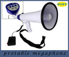 Professional Dynamic Megaphone with Siren Function/Detachable Microphone and Rechagable Batteries