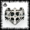 2014 fashion new stylish high quality stainless steel chrome mark skull ring