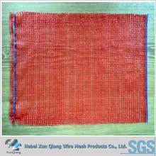 mesh bag for vegetable/vegetable onion potato fruite packaging orange mesh plastic bag