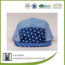 wholesale custom cotton five-pointed stars pattern snapback caps