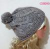 winter ski hat with pom pom