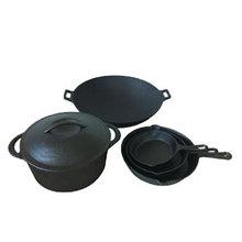 seasoned cast iron stockpot