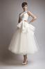 2014 white dress design backless tea length top brand custom make formal evening dress SS022 dresses china alibaba