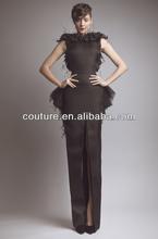 2014 hot sell black dress design backless floor length top brand custom make formal evening dress SS024 vestidos de noite