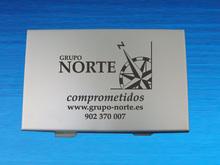 Customized Silk Print Aluminum Namecard Holder