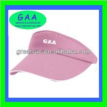 100% Cotton simple & clean pink sun visor cap girls beach hats with sandwich peak