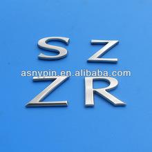 chrome auto car letters, chrome metal car badge letters emblem, chrome letters car sticker