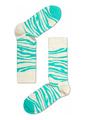 quente e frio de elite unisex atacado meias de algodão penteado clássico azul turquesa e branco da zebra animal padrão de meias