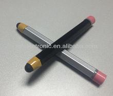 Pencil Shaped Hexagon Aluminum Stylus Pen touch for Capacitive Screen ,pencil pen