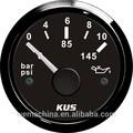 Kus 52mm 0-10 barra de presión de aceite indicador