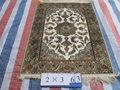 جميع x 2' 3' السجاد الايراني الحرير البساط ناحية معقود السجاد الحرير الخالص اليدوية والسجاد الشرقي السجاد
