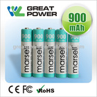 High Discharge Rate 1.2V AAA 900mAh NiMH Rechargeable Flashlight Battery, Electric Toy Battery, Vacuum Cleaner battery cell