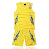 Top quality basketball jerseys yellow adult basketball jersey custom team basketball uniform
