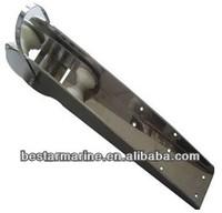 marine anchor bow roller as marine hardware