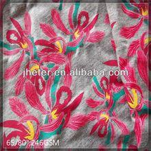multi color flower metallic chiffon jacquard fabric sportswear
