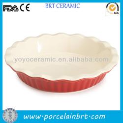 Plain Pie Ceramic White Plate