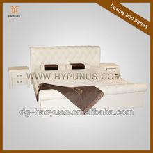 Newly designed genuine leather bed online bedroom furniture