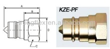 ISO 7241 A series hydraulic quick coupling KZE