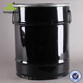 55l negro ronda de contenedores de metal/tambor de acero con tapa