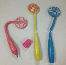 lollipop ball pen,novelty pen,funky pen