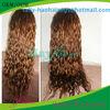 Best sales 5a bleached knots glueless lace wig deep wave curl Brazilian hair wig black women