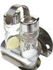 glass oil and vinegar cruet sets with nakpin paper holder