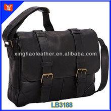 Latest black sling bag messenger bag for men,brand name mens messenger bag,100% genuine leather laptop bag