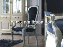 China high end home furniture vendor european luxury antique armchair pine dining chair