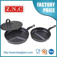 2014 China wholesale color new divided frying pan for sale