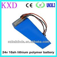 10Ah polymer 24v lithium battery for electric bike