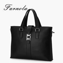 fashion brand design genuine leather man handbags